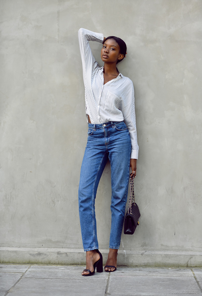 Striped Shirt x Mom Jeans - Bisous Natasha