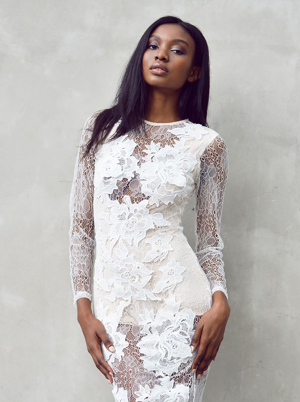 missguided LACE APPLIQUE dress - natasha-ndlovu-2