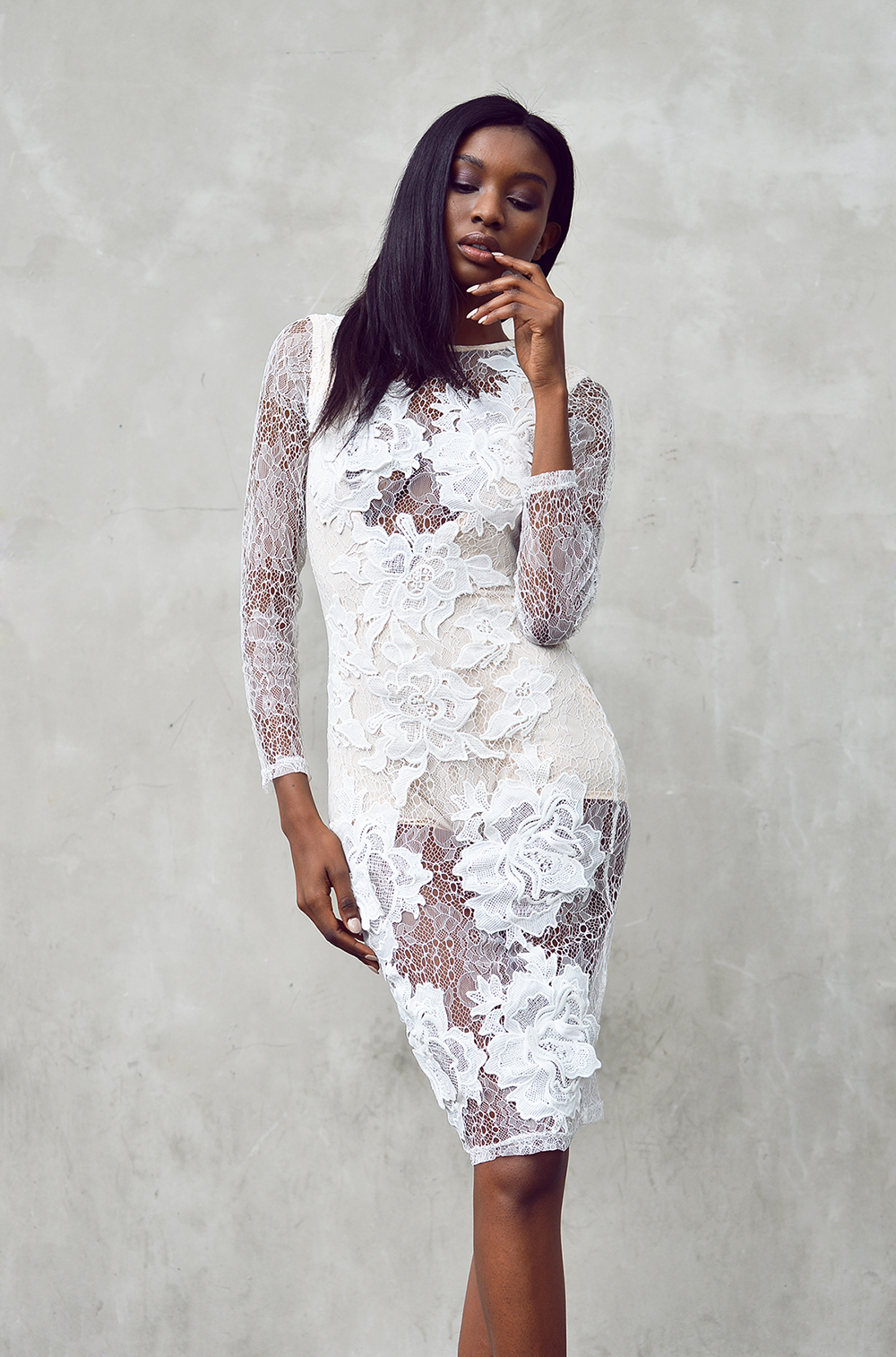 missguided LACE APPLIQUE dress - natasha-ndlovu-3