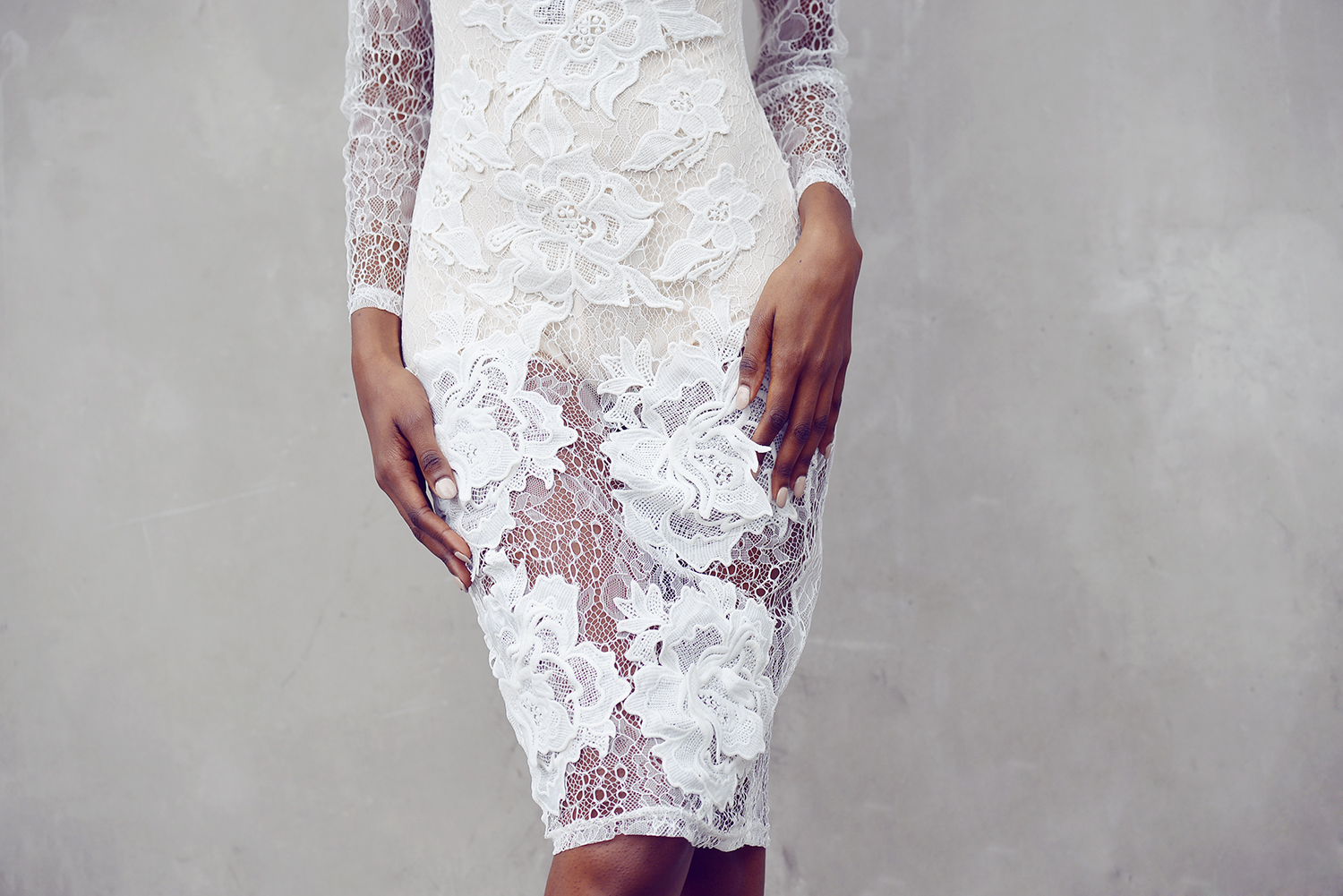 missguided LACE APPLIQUE dress - natasha-ndlovu-4