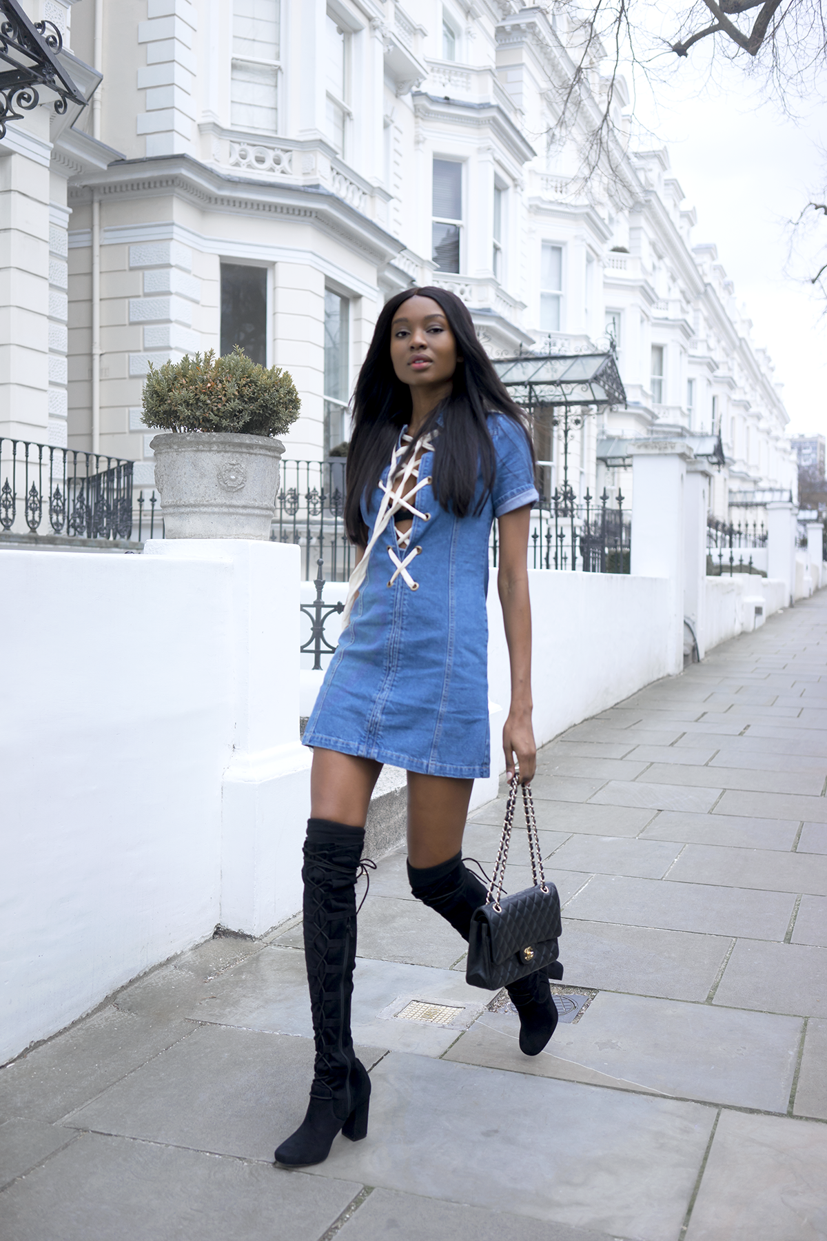 boohoo-lace-up-denim-dress-2
