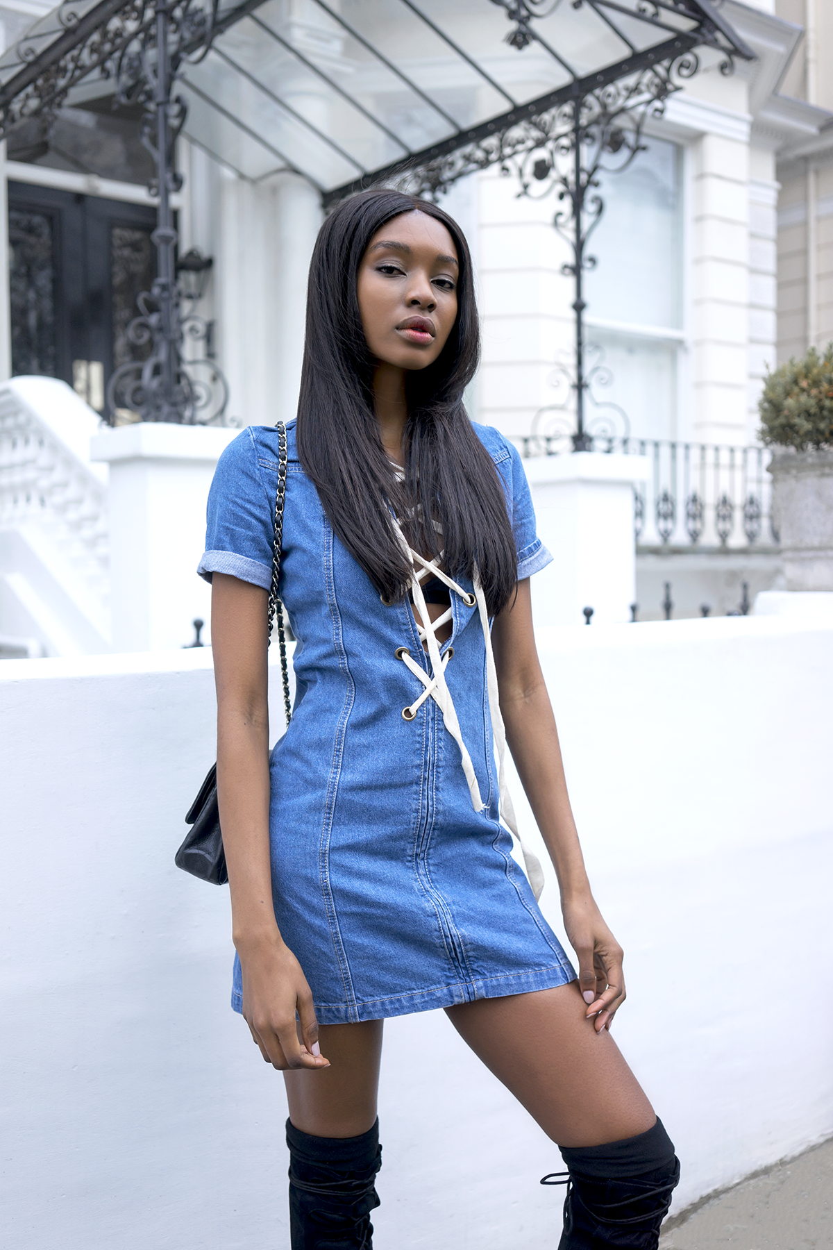 boohoo-lace-up-denim-dress-3