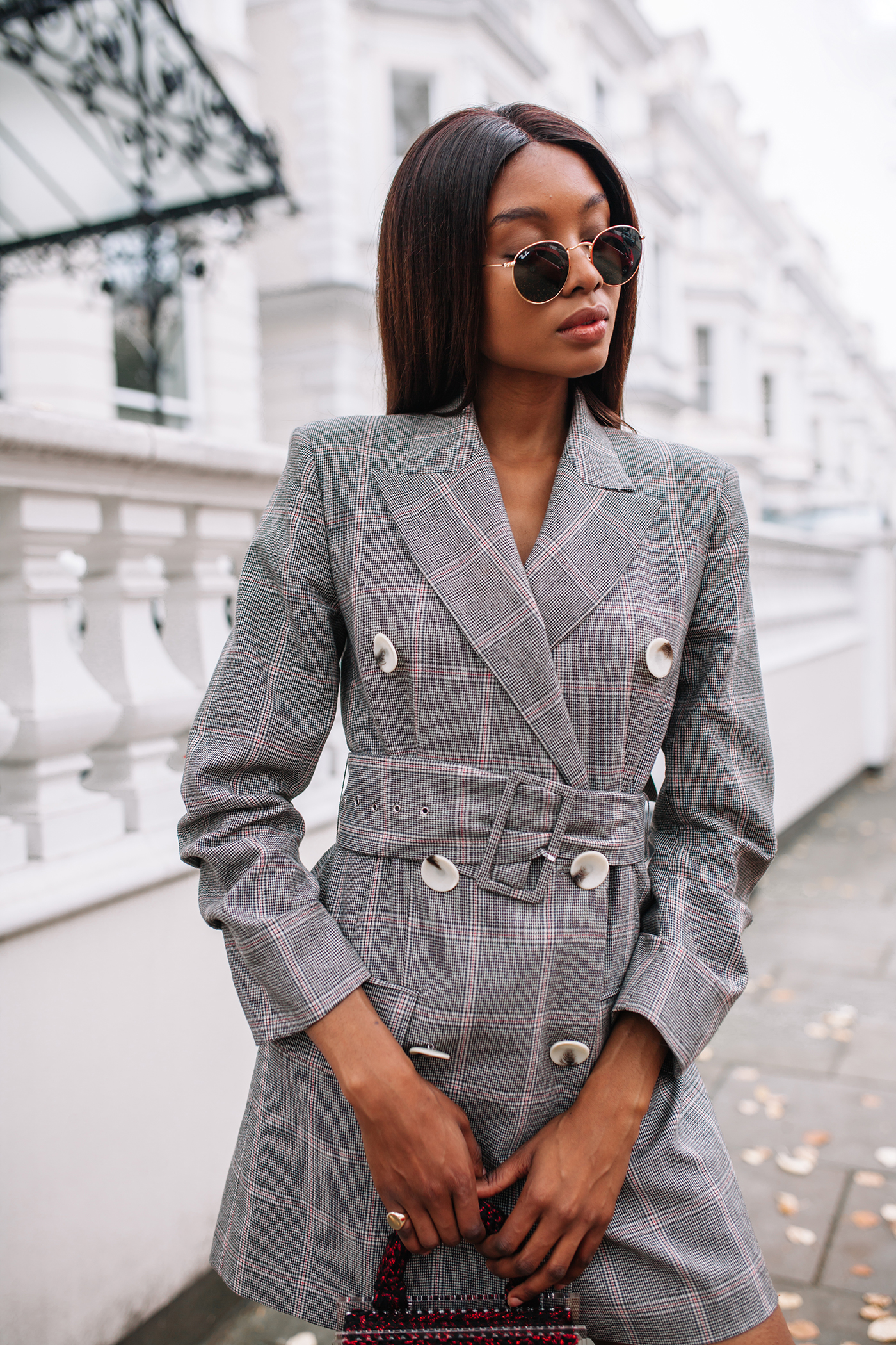 zara checked dress blazer
